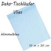 Tischläufer, Tischdecke, Vlies, himmelblau