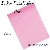 Tischläufer, Tischdecke, Vlies, rosa