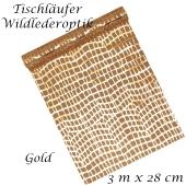 Tischläufer, Tischdecke Wildlederoptik, gold, 3 Meter Rolle