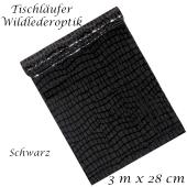 Tischläufer, Tischdecke Wildlederoptik, schwarz, 3 Meter Rolle