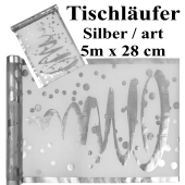 Tischläufer, Tischdecke Artistiques Silber, 5 Meter Rolle