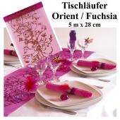 Tischläufer, Tischdecke Orient Fuchsia, 5 Meter Rolle