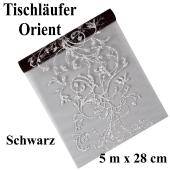 Tischläufer, Tischdecke Orient Schwarz, 5 Meter Rolle