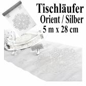 Tischläufer, Tischdecke Orient Silber, 5 Meter Rolle