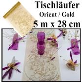 Tischläufer, Tischdecke Orient Gold, 5 Meter Rolle
