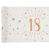 Tischläufer, Tischdecke Zahl 18, rosegold, 5 Meter Rolle
