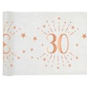 Tischläufer, Tischdecke Zahl 30, rosegold, 5 Meter Rolle