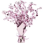 Tischdeko-Ständer mit rosa Herzen