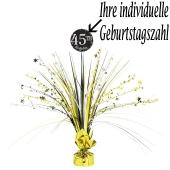 Tischständer Sparkling Celebration Birthday, Tischdekoration zum Geburtstag mit Zahlen zum Aufkleben