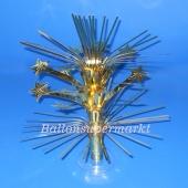 Tischdeko-Ständer mit goldenen Sternen, Partydekoration Silvester
