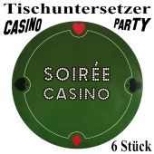 Tischuntersetzer Casino-Party