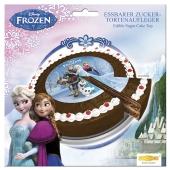 Tortendekoration Frozen Tortenaufleger zum Kindergeburtstag