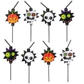 8 Trinkhalme Halloween Kids Partydekoration