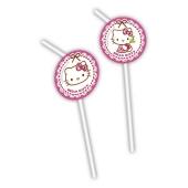 Hello Kitty Trinkhalme zum Kindergeburtstag