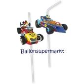 Micky Maus Roadster Racers Trinkhalme zum Kindergeburtstag