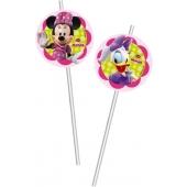 Minnie Maus Trinkhalme zum Kindergeburtstag