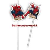 Spider-Man Web-Warriors Trinkhalme zum Kindergeburtstag