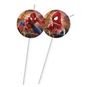 Spider-Man Trinkhalme zum Kindergeburtstag