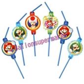 Super Mario Trinkhalme zum Kindergeburtstag