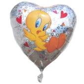 Tweety Love holografischer Luftballon