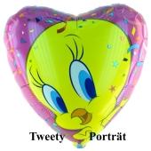Tweety Portrait Luftballon mit Ballongas Helium
