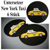 Untersetzer New York Taxi, Partydekoration USA Tischdekoration