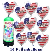 10-USA-Flaggen-Luftballons-Welcome-Home-aus-Folie-mit-1-Liter-Ballongas-Einweg
