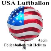 USA Luftballon aus Folie, 45 cm Rundballon mit Helium-Ballongas