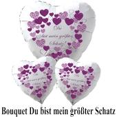 """Valentinstag Ballon-Bouquet """"Du bist mein größter Schatz""""!"""