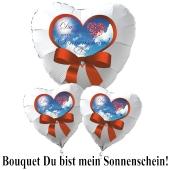"""Valentinstag Ballon-Bouquet """"Du bist mein Sonnenschein""""!"""