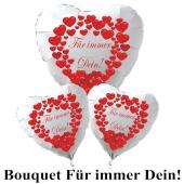 """Valentinstag Ballon-Bouquet """"Für immer Dein""""!"""