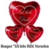 Valentinstag Ballon-Bouquet Ich liebe Dich Sternchen