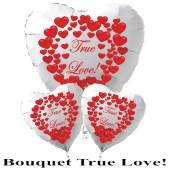 "Valentinstag Ballon-Bouquet ""True Love""! rote Herzen"
