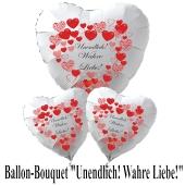"""Valentinstag Ballon-Bouquet """"Unendlich! Wahre Liebe""""!"""