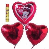 Valentinstag, schwebende Helium Luftballons, Bouquet 10, inklusive Heliumdose, Happy Valentine's Day