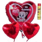 Valentinstag, schwebende Helium Luftballons, Bouquet 3, inklusive Heliumdose
