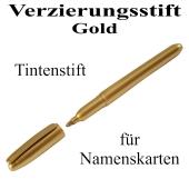Verzierungsstift, Tintenstift Gold, zur Beschriftung von Namenskarten und Tischkarten