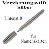 Verzierungsstift, Tintenstift Silber, zur Beschriftung von Namenskarten und Tischkarten