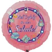 Viel Erfolg in der Schule! Rosa runder Luftballon ohne Helium-Ballongas
