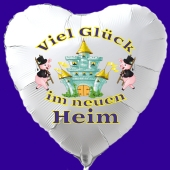 Luftballon mit Helium Ballongas: Viel Glück im neuen Heim