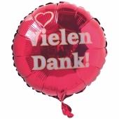 Vielen Dank! Luftballon aus Folie mit Helium Ballongas