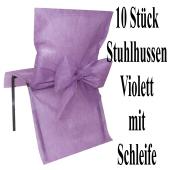 Stuhlhussen, Violett, mit Schleife, 10 Stück