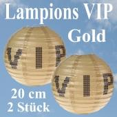 VIP Lampions Gold, 20 cm, 2 Stück Set