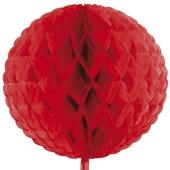 Wabenball Rot, Raumdekoration