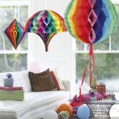 Deko-Set, Regenbogenfarben, 3 Stück