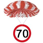 Wabendeko Verkehrsschild 70, Raumdekoration zum 70.