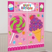 Wanddekoration Sweet Shop, Poster-Set zum Candy Bar Geburtstag