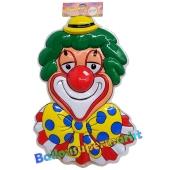 Clown mit gepunkteter Fliege, Wanddekoration und Bühnendekoration zu Karneval und Fasching