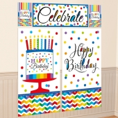 Wanddekoration Happy Birthday, Poster-Set zum Geburtstag
