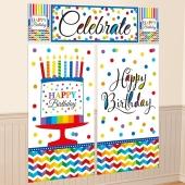 Wanddekoration Happy Birthday, Poster-Set zum Geburtstag